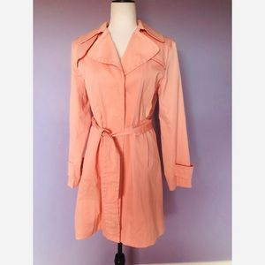 Nine West long pink trench coat